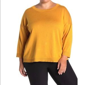 CG Sport Back Button Pullover Sweater (Plus Size)
